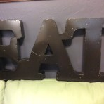 "Rustic ""Eat"" Sign"